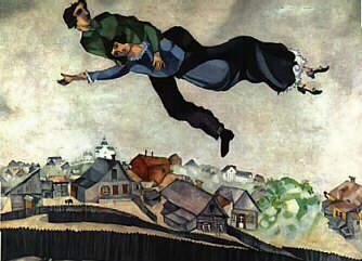 """M. Chagall, """"Sopra la città"""""""