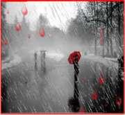 piove sull'asfalto..